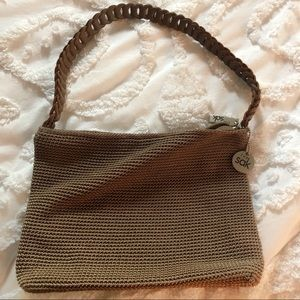 Woven The Sak Purse with braided leather handle